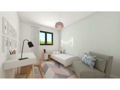 Modèle de maison Plain-pied GA 4 ch Trendy 4 chambres  : Photo 6