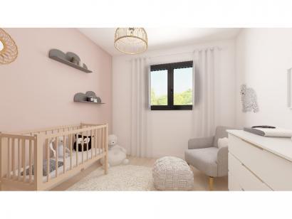 Modèle de maison Plain-pied GA 4 ch Trendy 4 chambres  : Photo 8