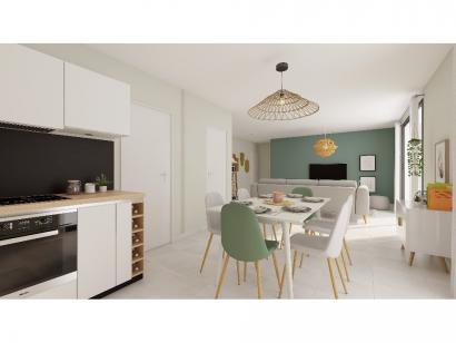 Modèle de maison Plain-pied GI 3 ch Trendy 3 chambres  : Photo 4