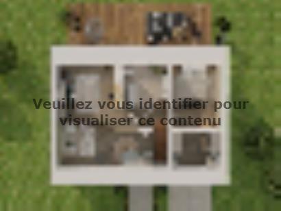 Plan de maison Combles GI 3 ch Design 3 chambres  : Photo 2