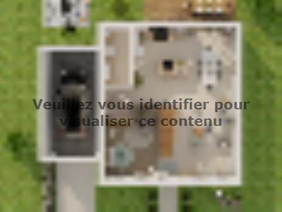 Plan de maison Combles GA 4 ch Briques 3 chambres  : Photo 1