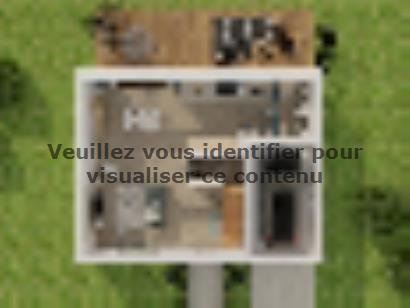 Plan de maison Combles GI  3 ch Briques 3 chambres  : Photo 1