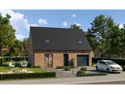 Modèle de maison Combles GI  3 ch Briques 3 chambres  : Photo 1