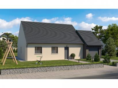 Modèle de maison Plain-pied GA 3 ch Design 3 chambres  : Photo 2
