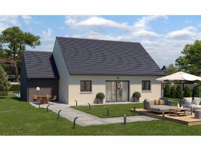 Modèle de maison Plain-pied GA 3 ch Design 3 chambres  : Photo 1
