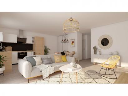 Modèle de maison Plain-pied GA 3 ch Briques 3 chambres  : Photo 2