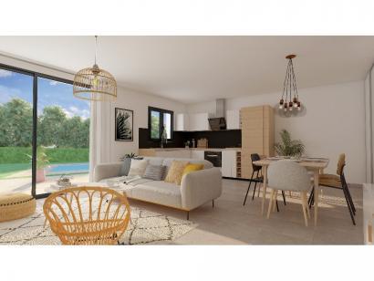 Modèle de maison Plain-pied GA 3 ch Briques 3 chambres  : Photo 4