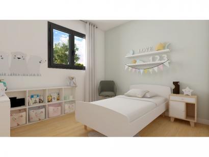 Modèle de maison Plain-pied GA 3 ch Briques 3 chambres  : Photo 6