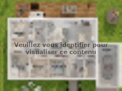 Plan de maison Plain-pied GA 4 ch Design 4 chambres  : Photo 2