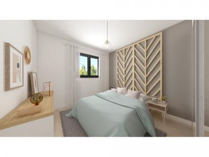 Modèle de maison Plain-pied GA 4 ch Briques 4 chambres  : Photo 6