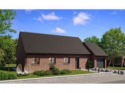 Modèle de maison Plain-pied GA 4 ch Briques 4 chambres  : Photo 1