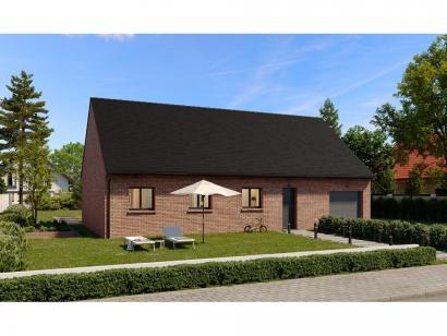 Modèle de maison Plain-pied GI 4 ch Briques 4 chambres  : Photo 1