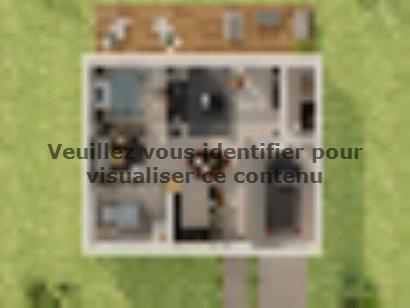 Plan de maison Plain-pied GI 2 ch Briques 2 chambres  : Photo 1