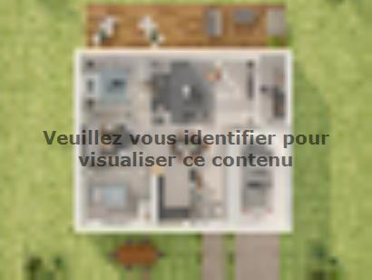 Plan de maison Plain-pied GI 2 ch Briques 2 chambres  : Photo 2