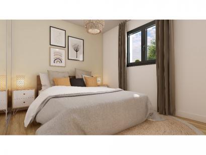 Modèle de maison Plain-pied GI 2 ch Briques 2 chambres  : Photo 5