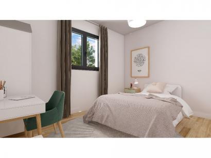 Modèle de maison Plain-pied GI 2 ch Briques 2 chambres  : Photo 6