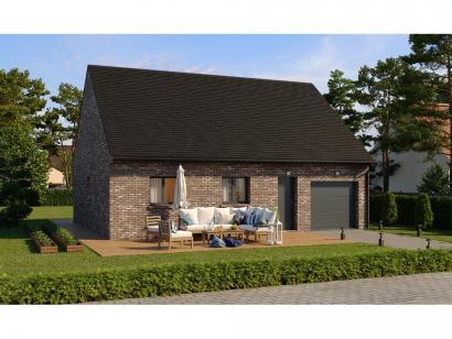 Modèle de maison Plain-pied GI 2 ch Briques 2 chambres  : Photo 1