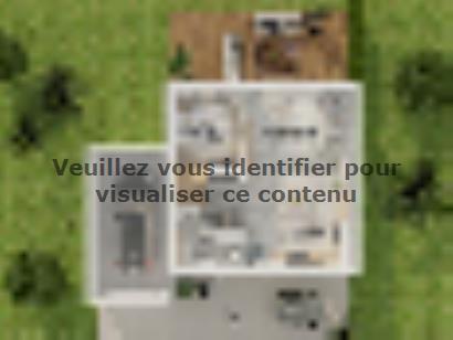 Plan de maison Etage GA 4 ch Design 4 chambres  : Photo 2