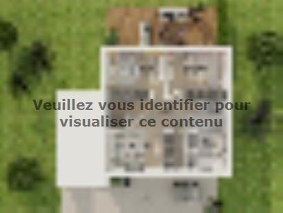 Plan de maison Etage GA 4 ch Design 4 chambres  : Photo 4