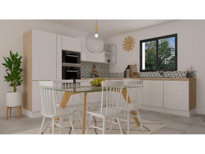 Modèle de maison Etage GA 4 ch Briques 4 chambres  : Photo 2