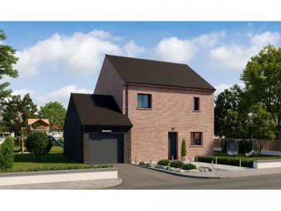 Modèle de maison Etage GA 4 ch Briques 4 chambres  : Photo 1