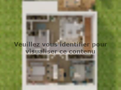 Plan de maison Etage GI 3 ch Design 3 chambres  : Photo 3