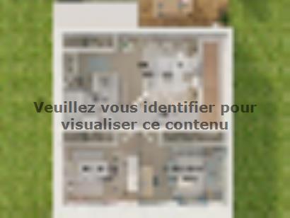 Plan de maison Etage GI 3 ch Design 3 chambres  : Photo 4