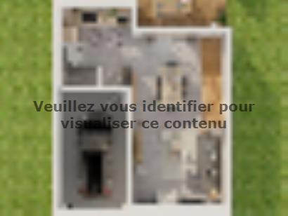 Plan de maison Etage GI 3 ch Briques 3 chambres  : Photo 1