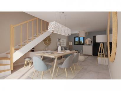 Modèle de maison Etage GI 3 ch Briques 3 chambres  : Photo 2