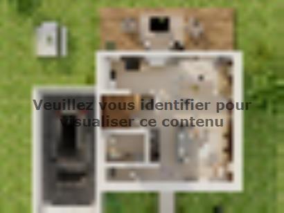 Plan de maison Etage GA 3 ch Briques 3 chambres  : Photo 1