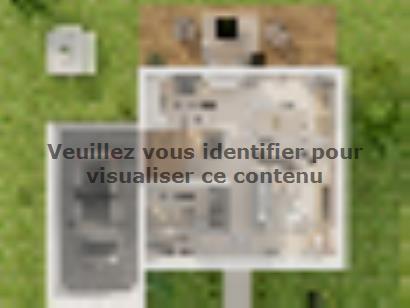 Plan de maison Etage GA 3 ch Briques 3 chambres  : Photo 2