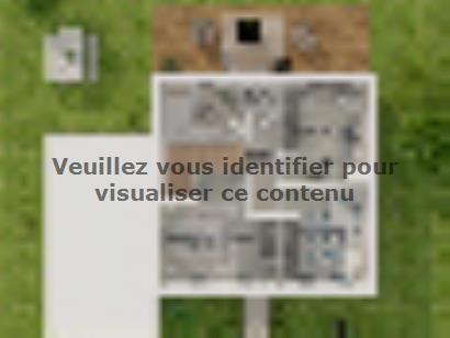 Plan de maison Etage GA 3 ch Briques 3 chambres  : Photo 4