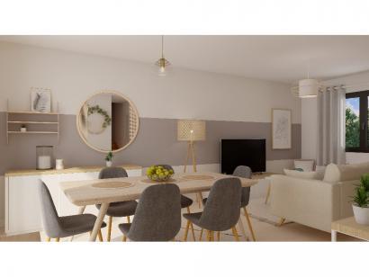 Modèle de maison Etage GA 3 ch Briques 3 chambres  : Photo 3