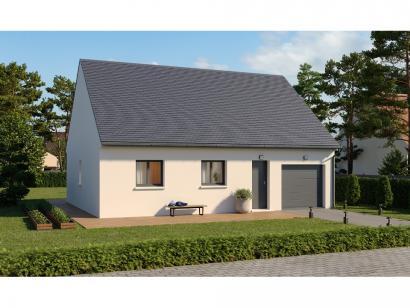 Modèle de maison Plain-pied GI 2 ch _ GARAGE SUITE PARENTALE 3 chambres  : Photo 1
