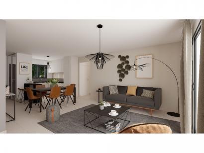 Modèle de maison Plain-pied GI 2 ch _ GARAGE SUITE PARENTALE 3 chambres  : Photo 5