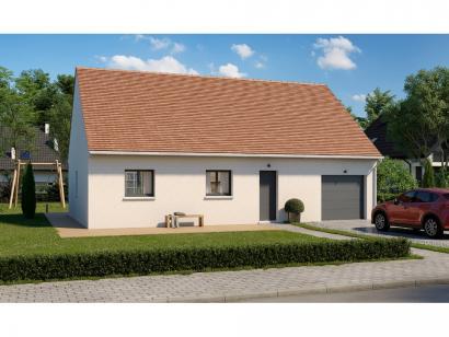 Modèle de maison Plain-pied GI 3 ch _ GARAGE SUITE PARENTALE 4 chambres  : Photo 1