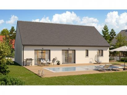 Modèle de maison Plain-pied GI 4 ch _ CHAMBRE TWIN + 2 x SUITES PAR 5 chambres  : Photo 2