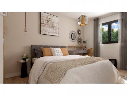 Modèle de maison Plain-pied GI 4 ch _ CHAMBRE TWIN + 2 x SUITES PAR 5 chambres  : Photo 7