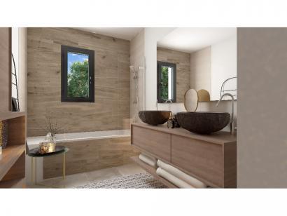 Modèle de maison Plain-pied GI 4 ch _ CHAMBRE TWIN + 2 x SUITES PAR 5 chambres  : Photo 11