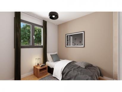 Modèle de maison Plain-pied GI 3 ch _ CHAMBRE TWIN + GARAGE SUITE P 4 chambres  : Photo 8