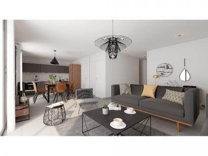 Modèle de maison Plain-pied GI 3 ch _ CHAMBRE TWIN + 2 x SUITES PAR 4 chambres  : Photo 3