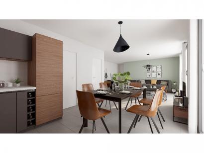 Modèle de maison Plain-pied GI 3 ch _ CHAMBRE TWIN + 2 x SUITES PAR 4 chambres  : Photo 5