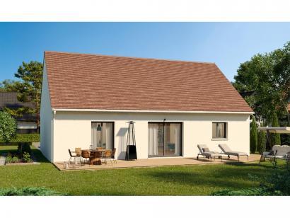 Modèle de maison Plain-pied GI 3 ch _ 2 x SUITES PARENTALES 4 chambres  : Photo 2