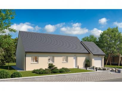 Modèle de maison Plain-pied GA 4 ch _ CHAMBRE TWIN + CELLIER XL + G 5 chambres  : Photo 1