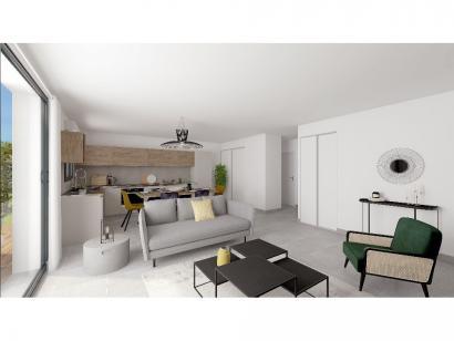 Modèle de maison Plain-pied GA 4 ch _ CHAMBRE TWIN + CELLIER XL + G 5 chambres  : Photo 3