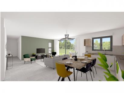 Modèle de maison Plain-pied GA 4 ch _ CHAMBRE TWIN + CELLIER XL + G 5 chambres  : Photo 4
