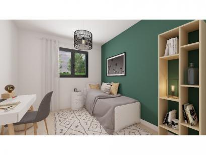 Modèle de maison Plain-pied GA 4 ch _ CHAMBRE TWIN + CELLIER XL + G 5 chambres  : Photo 6