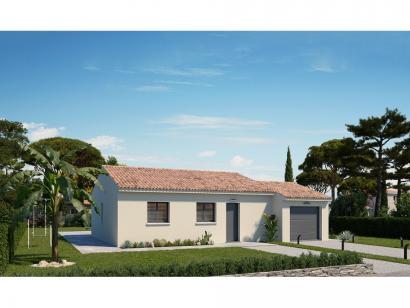 Modèle de maison Plain-pied GA 2 ch Design 2 chambres  : Photo 1
