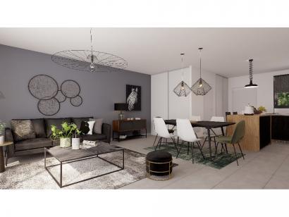 Modèle de maison Plain-pied GA 2 ch Design 2 chambres  : Photo 4