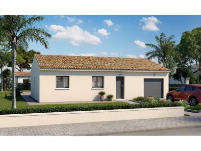 Modèle de maison Plain-pied GI 3 ch Design 3 chambres  : Photo 1